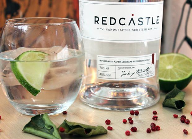 Portfolio: Redcastle gin logo, branding and packaging design