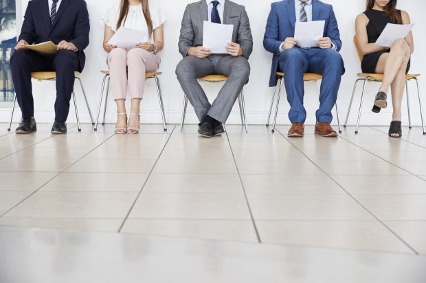 job interview line up